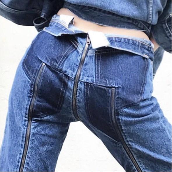 0f48d69a4a0b Acheter Pantalon Homme Femmes Taille Haute Jeans Avant Dos Zipper Jeans  Mujer Hot Sexy Femmes Multi Fermetures À Glissière Jambes Crayon Denim  Pantalon De ...