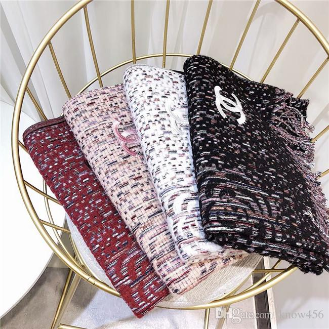 Top Designer Scarf Winter Thick Cashmere Shawl Fashionable Big