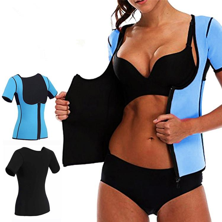 Großhandel Hot Sweat Body Shapers Frauen Abnehmen Weste Tops Thermo