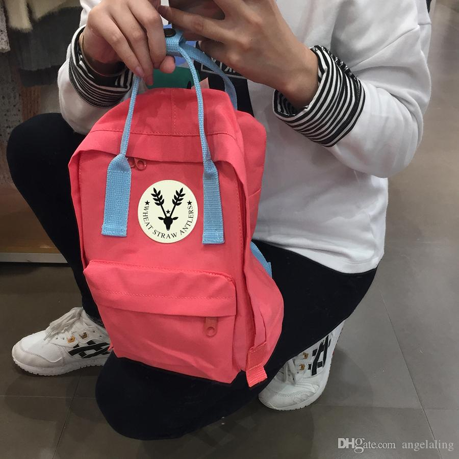 2018 wholesale High quality canvas material bag brand handbags men and  women backpack children school bags multiple colors optional 8533b7d5640d