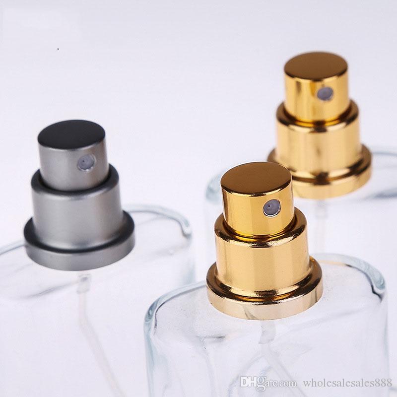 50 Adet 30 ml Yuvarlak Parfüm Sprey Şişe Sprey Şişe Kullanımlık Şişe Şeffaf Cam Nebulizatör Ücretsiz Kargo