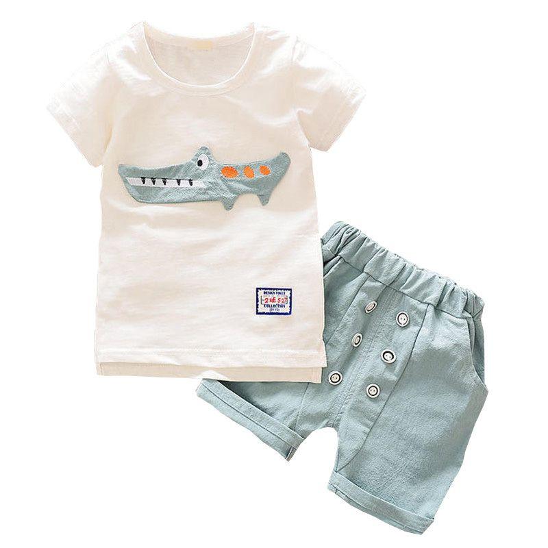 55060b7beb37 2019 BibiCola Summer Toddler Baby Boy Clothes Set Children Boys ...