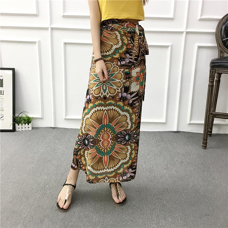 de20934c1a 2019 New Traditional Thailand Clothing Sarong Skirt Summer Holiday Casual  Beach Long Skirts Myanmar Long Gyi Wrap Skirt Saia Feminina From Sadlyric,  ...