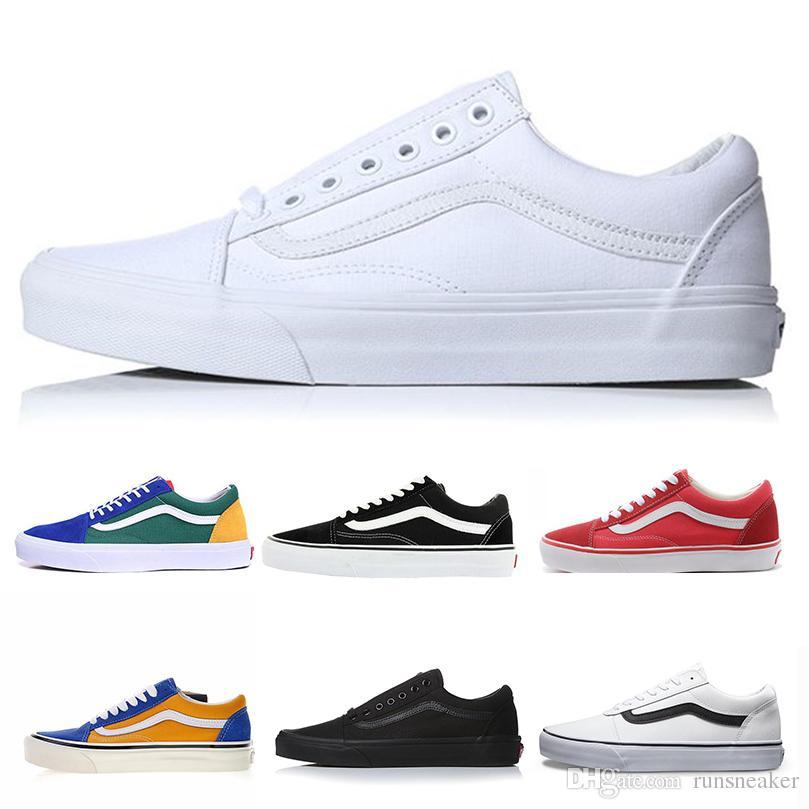 Van Original Old Skool Fashion Classic Mens Canvas Shoes For Women Triple  White Black Casual Shoes Designer Luxury Brand Shoe Sport Sneaker Best  Womens ... ac00e50a0d