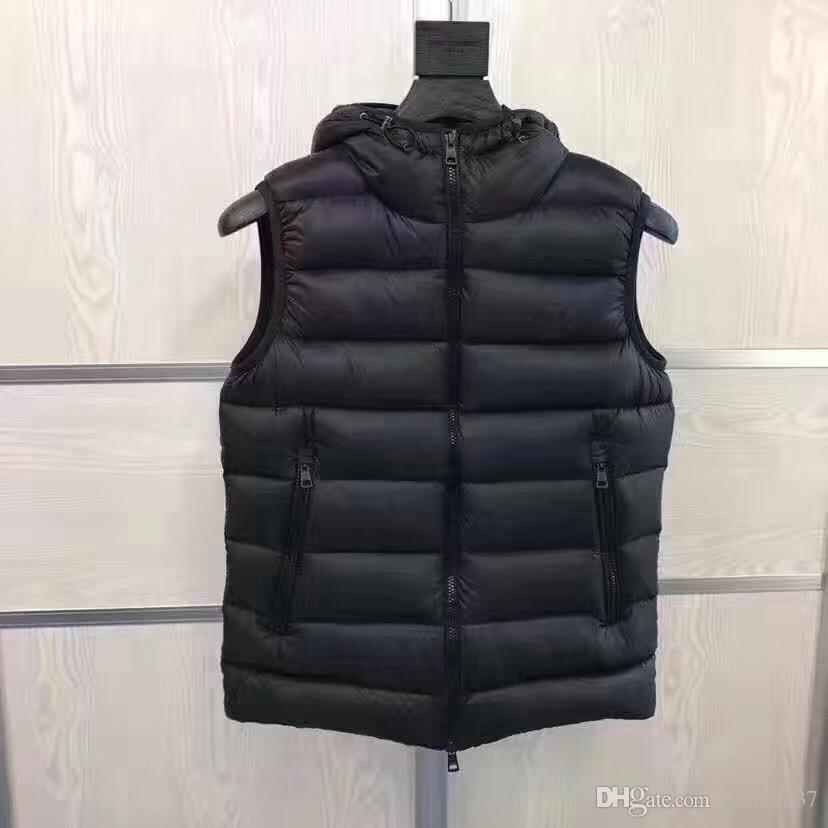 Vests Limited Rushed Chaleco Hombre Waistcoat Men 2018 Winter England Men Style Down Jacket Warm Vest for Sleeveless French Black Hooded