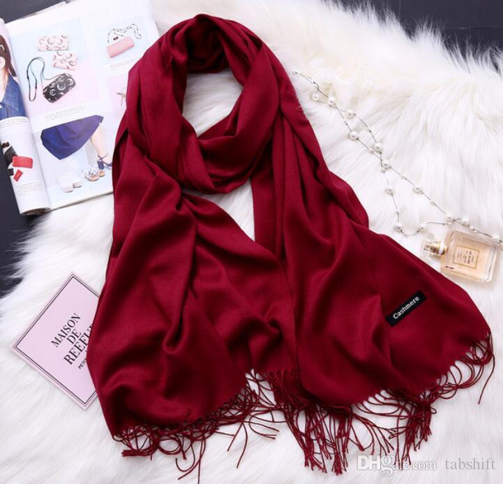 ed1ed557fb7c5 Fashion Winter Scarves for Women Shawls And Wraps Lady Scarf Pure Long  Cashmere Head Scarf H Scarves for Women Shawls And Wraps Lady Scarves Online  with ...