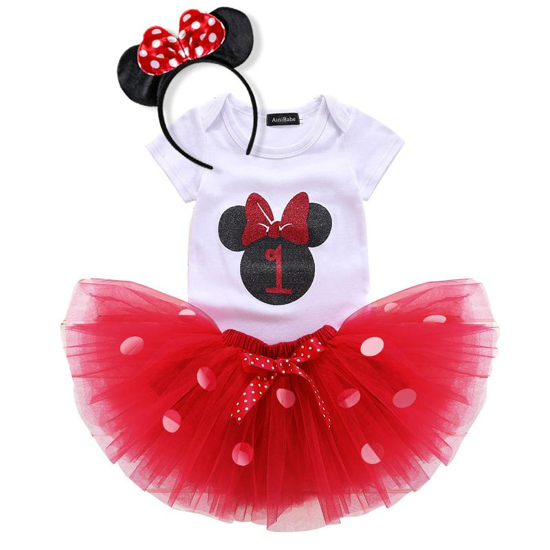 2018 Toddler Kids Baby Girls Summer Outfits 1 2 Year Birthday Gift Infant Party Wear Dresses For Clothes Tutu Dots Dress From Ouronlinelife