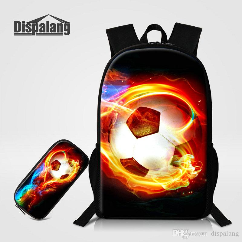 Backpack Pencil Case For Primary Students Unique Design Basketball Printing School  Bag For Boys Soccer Bookbags Male Mochila Rugtas Back Pack Cute Backpacks  ... 394e462801742
