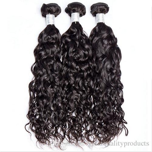 10a Brésilien Vierge Extension de Cheveux Vague D'eau Prix de Gros Vierge Cheveux Couleur Naturelle Livraison Gratuite Vente Chaude