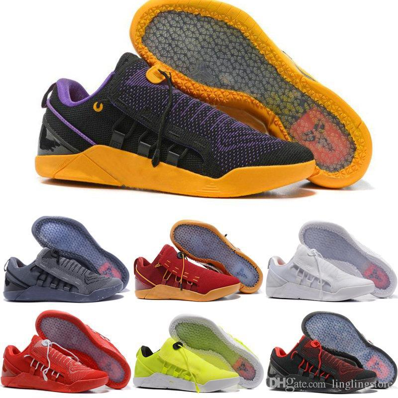 191ed4bdf3b9 2019 2018 Mens Basketball Shoes KOBE A.D. NXT 12 KB Volt Yellow Blue White Black  AD WOLF GREY Zoom Sport Shoes Cheap Sneakers From Linglingstore