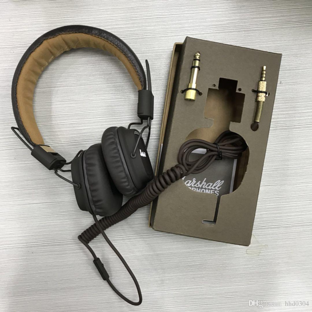 A+Marshall Major headphones Clone With Mic Deep Bass DJ Hi-Fi Headphone  HiFi Headset Professional DJ Monitor Headphone