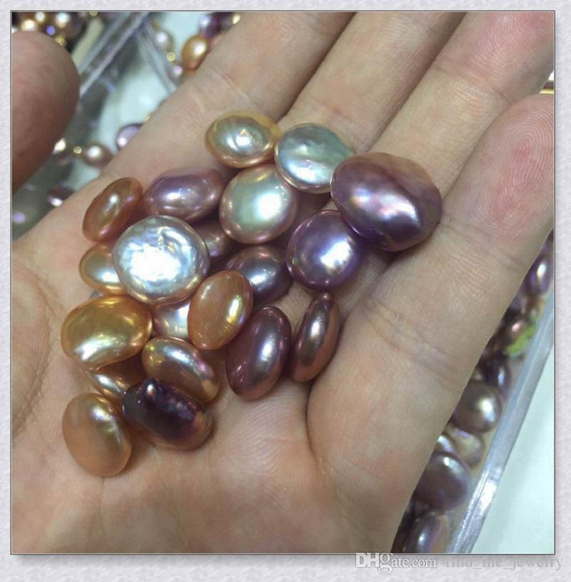 buttons baroque Pearl accessories 2018 new 11-13mm natural irregular oyster Pearl Loose beads Fashion women Jewelry wholesale