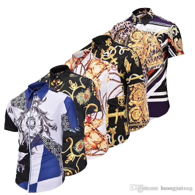 3a0d043aa4 Compre Medusa 3d Imprimir Camisas De Los Hombres De Diseño De Moda De Marca  De Lujo De Los Hombres De Manga Corta Camisas Casuales Tamaño Asiático 2xl  A ...