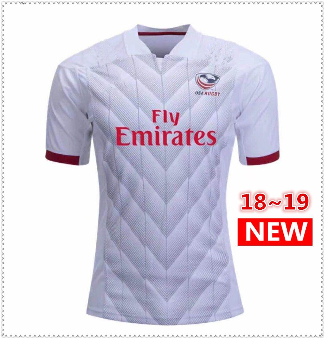 c8a9202697ce0 Compre Ventas Calientes 2018 2019 EE.UU. Estados Unidos Camisetas De Rugby  NRL Liga Nacional De Rugby USA Rugby Para Hombre Camisetas Tamaño S 3XL A   17.26 ...