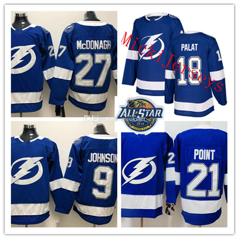 best service 58e41 e9ebe Mens Tampa Bay Lightning Tyler Johnson Jersey Stitched 18 Ondrej Palat 21  Brayden Point 27 Ryan McDonagh Tampa Bay Lightning Jersey
