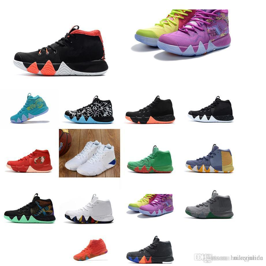 2019 Cheap Womens Kyrie Basketball Shoes Red Blue Black Green Wolf Grey  Rainbow USA Boys Girls Youth Kids Irving 4 IV Sneakers Tennis For Sale From  ... 6fe2ff117