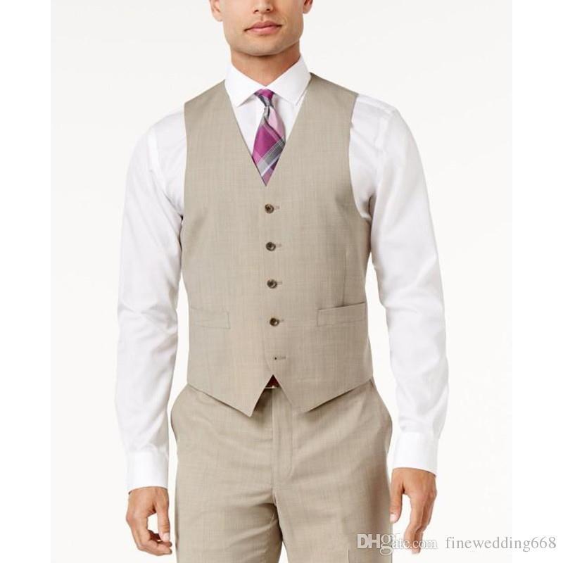 2f75db08bde Cheap And Fine Beige Tweed Vests Wool Herringbone British Style Custom Made  Mens Suit Tailor Slim Fit Blazer Wedding Suits For Men Groom In Vest Groom  Vest ...