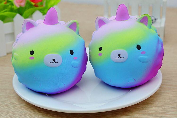 Squishy Cat Unicorn : 12CM Jumbo Soft Slow Rising Rainbow Unicorn Squishy Unicorn Kawaii Cute Bear/Panda Phone Straps ...