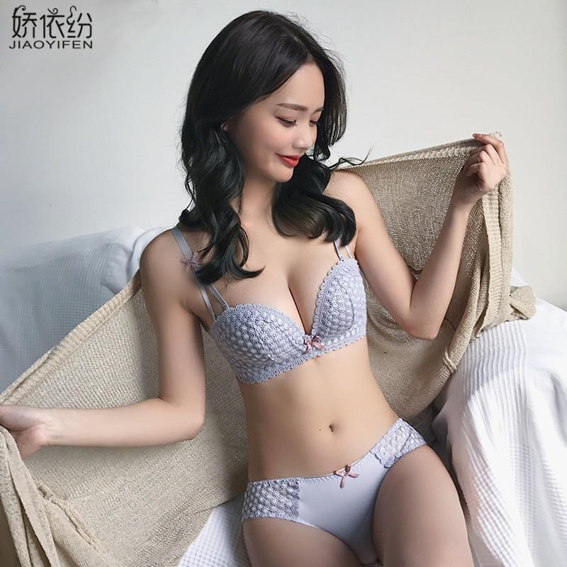 961239167a 2019 JYF Summer Fashion Sexy Lace Women Seamless Underwear Padded Push Up  Bra Set Embroidery Lace Young Girl Intimates Sets From Donahua