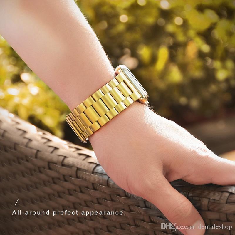 Bracelet en acier inoxydable Epacket avec bracelet adaptateur pour montre Apple Series 1 2 3
