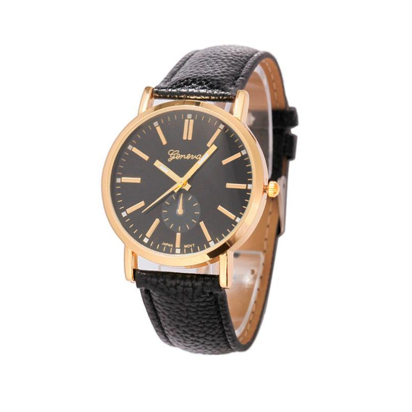 Free shipping Hot fashion creative couple watch Luxury Unisex Leather Band Analog Quartz Vogue WristWatch Watches Les femmes mon