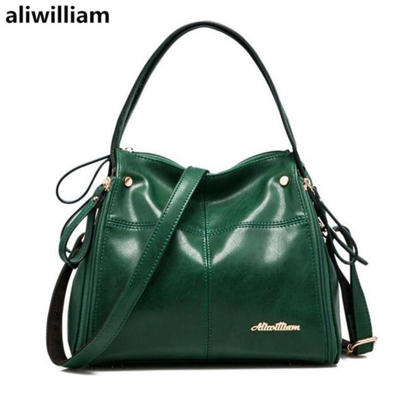 734d045cb6 Aliwilliam Pure Leather Ladies Brand Shoulder Bag 2017 New Leather Bag  Fashion Handbag Messenger Handbags Classic Handbag Totes From Prettyman