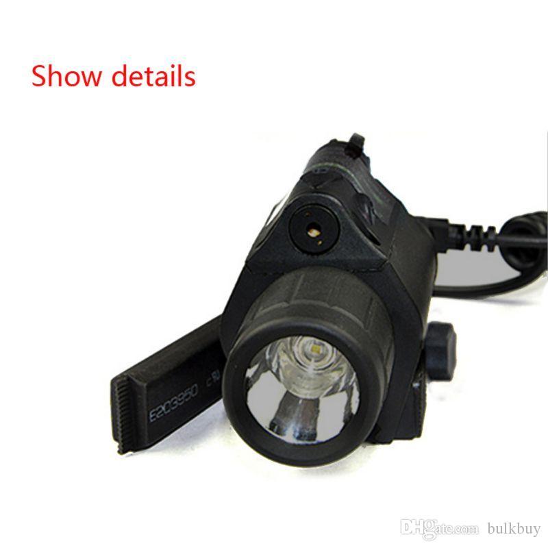 Açık Avcılık 2in1 Taktik Sabit Odak Cree LED El Feneri / IŞIK + Kırmızı Lazer / Sight Combo