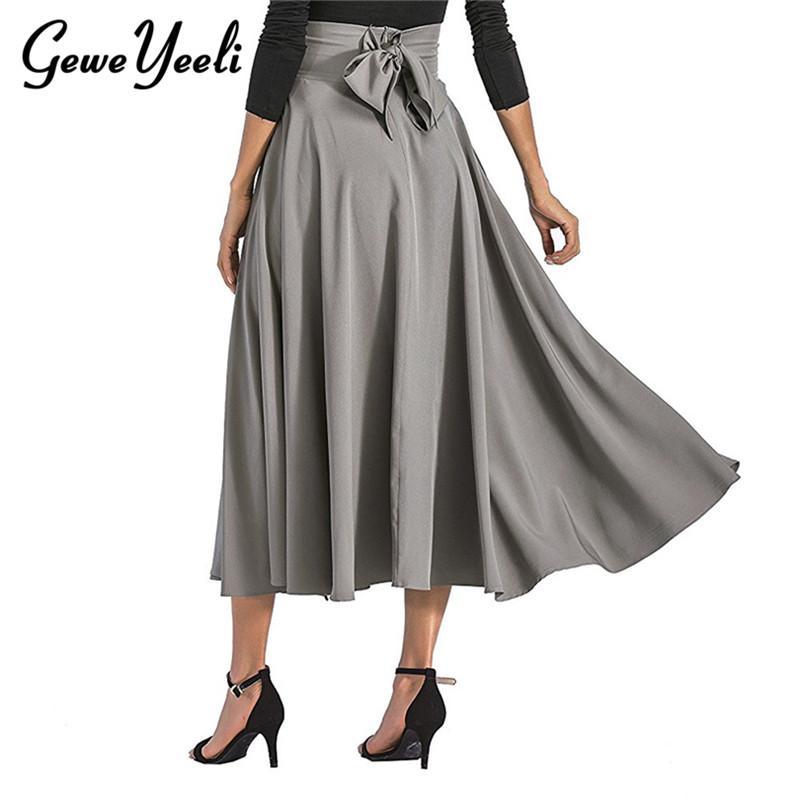 9080967075 Compre 2018 Otoño Falda Larga Con Bolsillo De Alta Calidad Sólido Hasta El  Tobillo Falda Vintage Para Mujeres Negro Faldas Largas Mujeres Jupe Saias A  ...