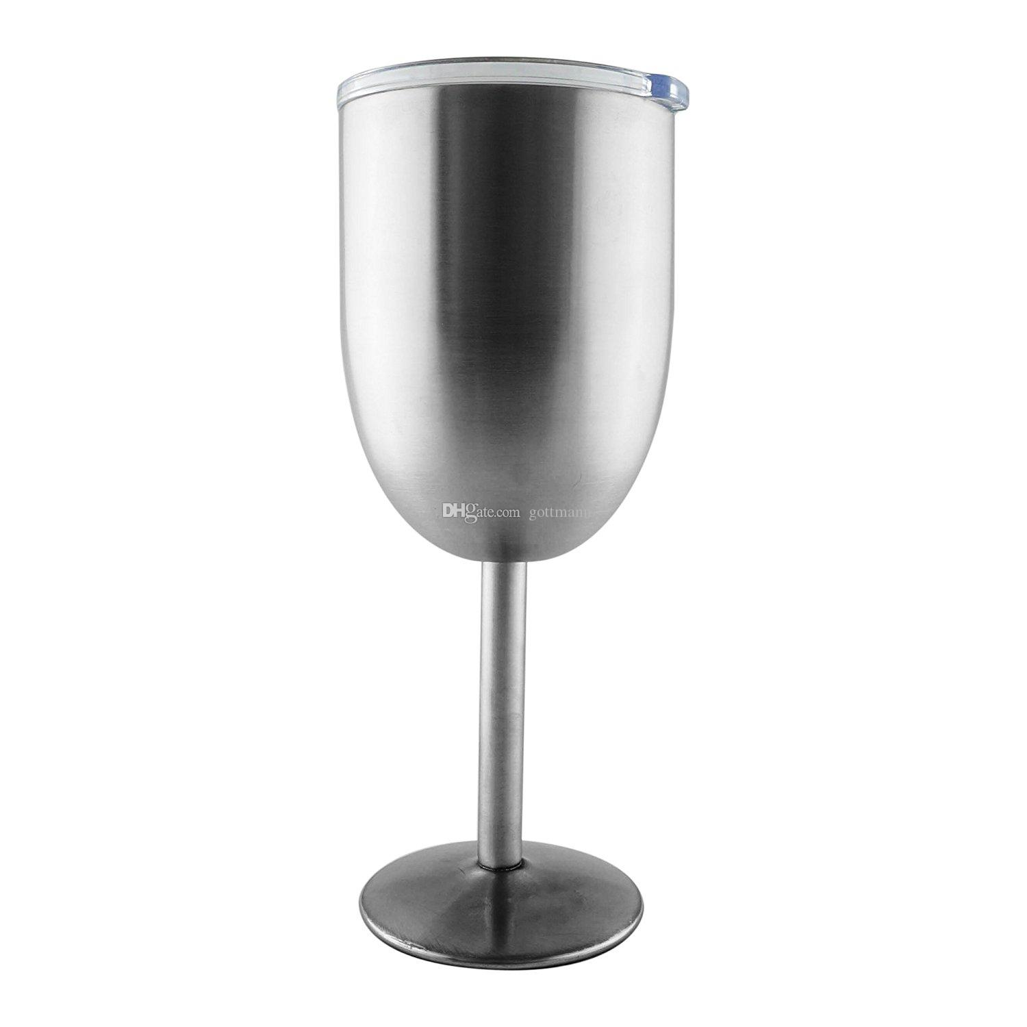2019 Stainless Steel Wine Goblet 12oz Double Wall Vacuum Insulated