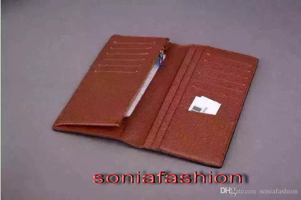 Wholesale classic wallet European and America style woman and man unisex with real leather inside for suit wallet free shipping
