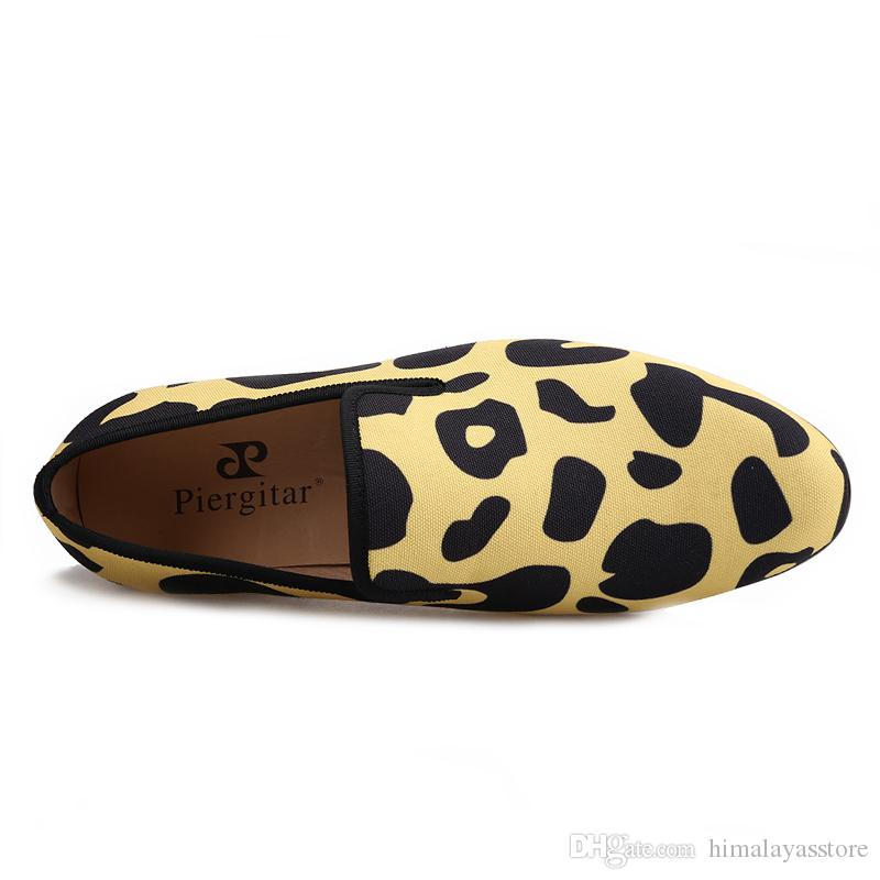 nouveau style chaussures à la main avec des hommes classique imprimé animal léopard doublure en cuir Camo pour le confort et l'usure durable