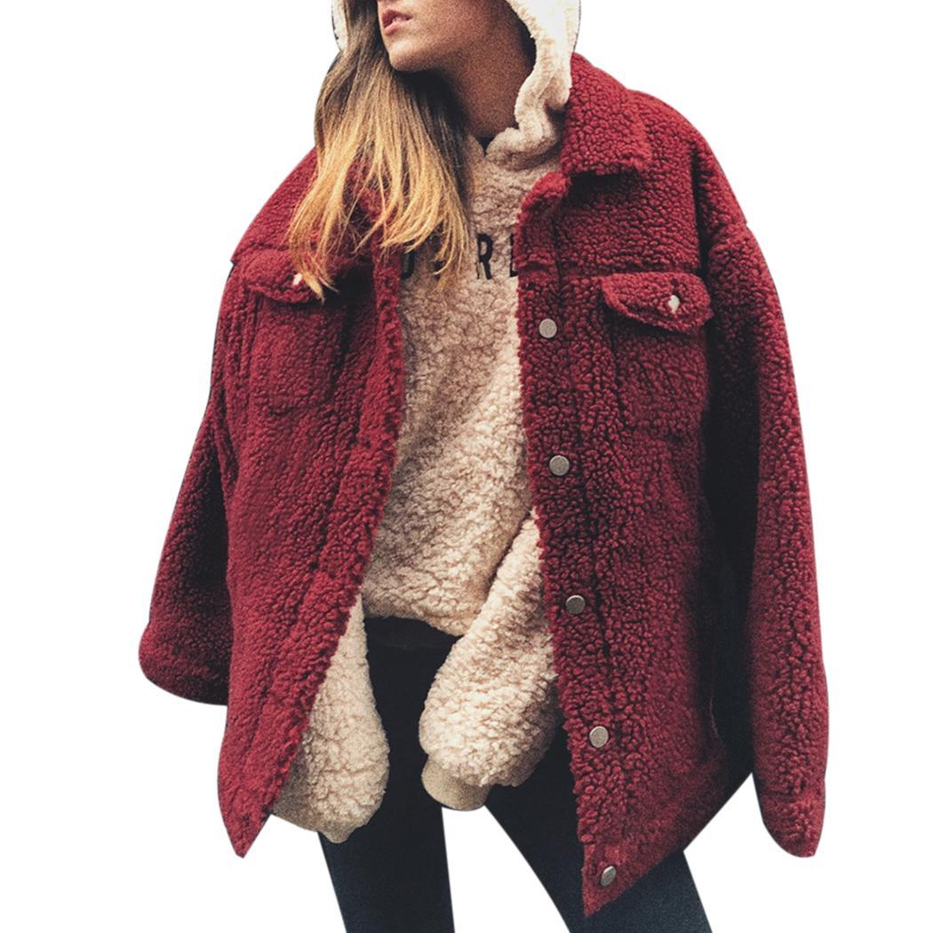 e7c0ce90dc81f 2018 Winter Women Faux Fur Teddy Coat Fluffy Warm Jackets Outerwear ...