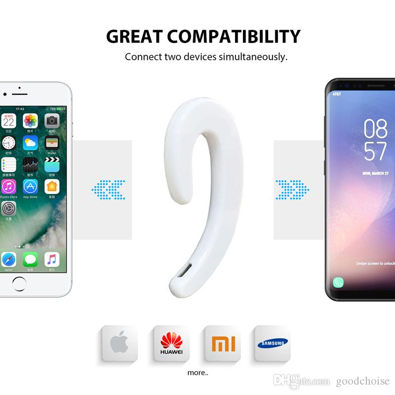 S103 Sport auricolare senza fili Bluetooth Stereo Headset conduzione ossea Bluetooth cuffia Nessun tappi le orecchie con il Mic smartphone