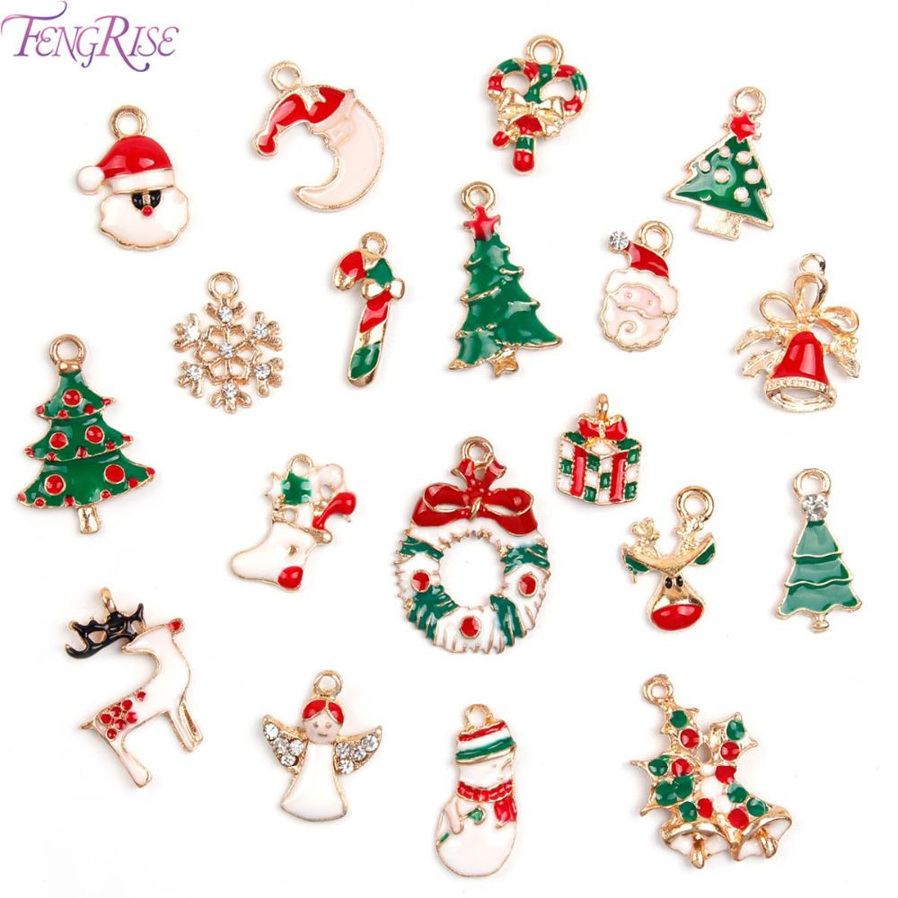Fengrise Alloy Diy 2018 Christmas Tree Decorations Charms Jewellery