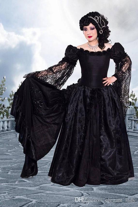 Dark Roses Bustle ball Gown prom dresses Couture Dark Fantasy medieval renaissance victorian fusion gothic evening masquerade corset dress