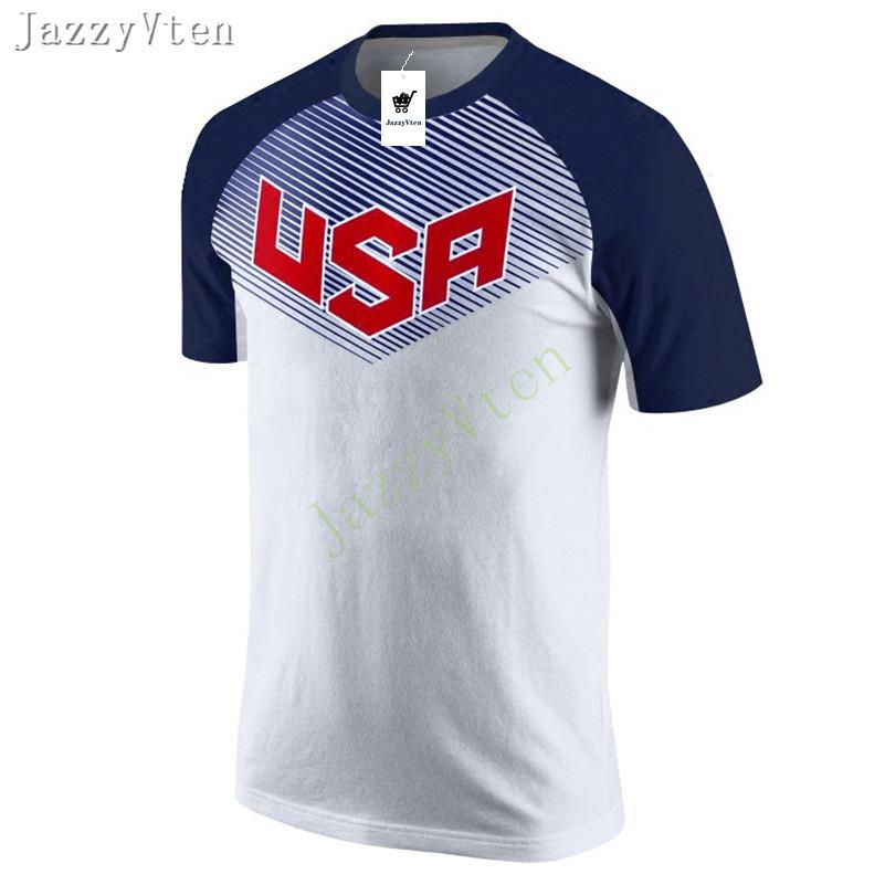 6a492f037 2019 JazzyVten 100% Pure Cotton Print USA Men Running T Shirts,Sport  Training Short Sleeves T Shirts Tops Basketball Warm Up Shirts From  Gqinglang, ...