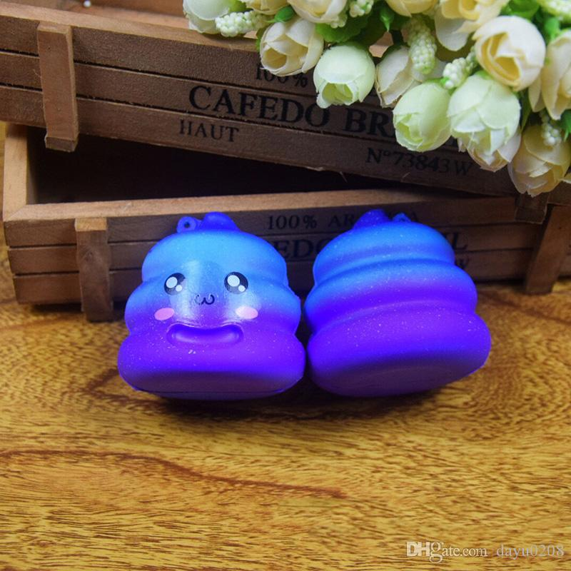 2018 New Exquisite Fun Crazy Poo Scented Squishy Charm Slow Rising 7cm Simulation Kid Toy Stress reliever Squeeze Toys Healing Nice G