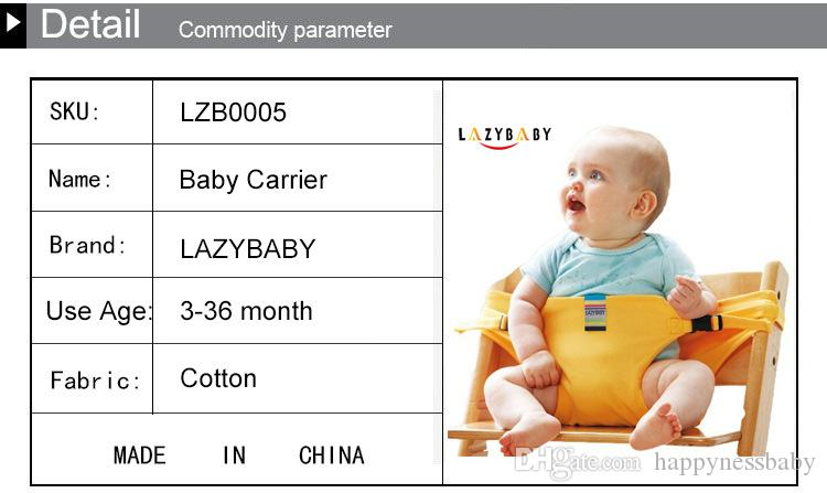 Baby Chair Portable Infant Seat Product Dining Lunch Chair/Seat Safety Belt Feeding High Chair Harness Baby chair seat JWH201