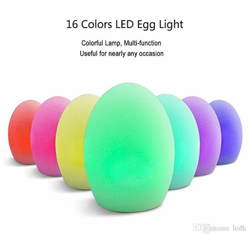 Rgb Remote Led Table Lights Led Desk Lamp Rechargeable Egg - Rechargeable restaurant table lights