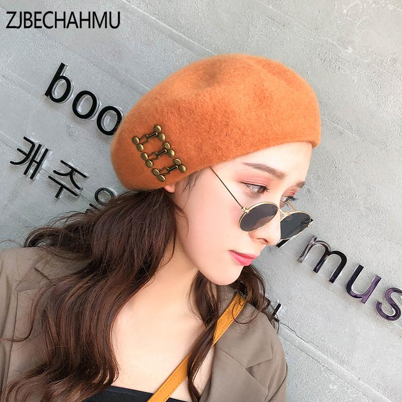 8901d201 Hot Sell New Fashion Women Wool Solid Color Beret Female Bonnet Caps Winter  All Matched Warm Walking Hat Cap Apparel Accessories Berets Cheap Berets  Hot ...