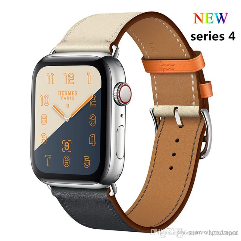 Leather Single Tour Strap For Apple Watch Band 4 44mm 40mm Bracelet  Watchband Iwatch Series 4 3 2 1 38mm 42mm Replacement Belt Leather Strap  For Watch ... fa56bf748fa