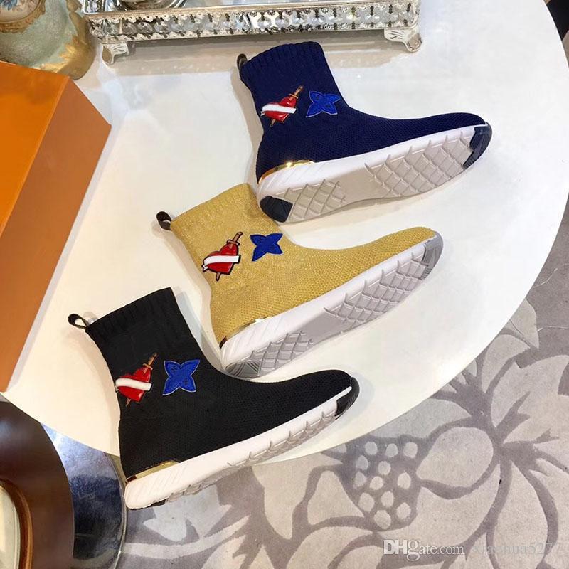 factory authentic 0f96b fec32 Neue Luxusmarke Mode Damen Sport Stiefel Mode Individualität Hohe Qualität  Ladies Boots für Outdoor auf Größe 35-40