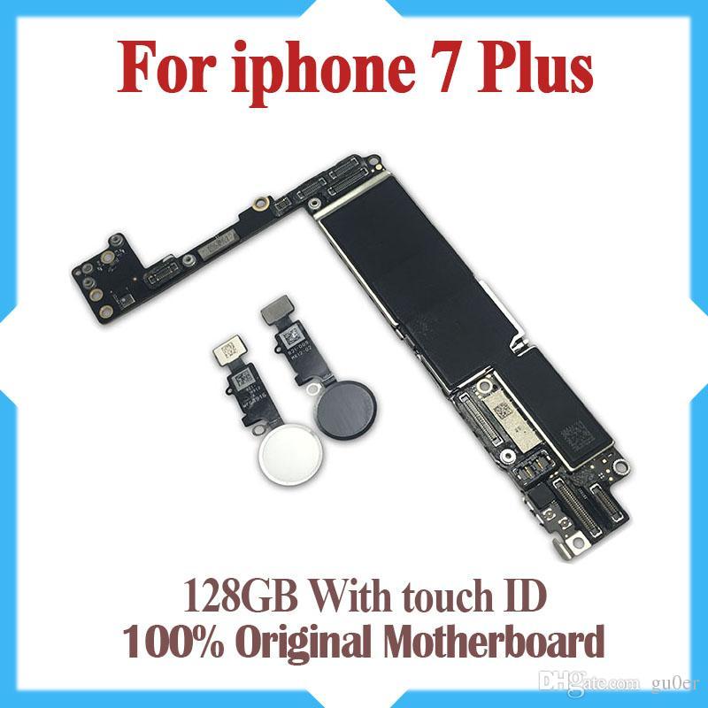 128GB لفون 7 زائد اللوحة الأم مع معرف اللمس ، الأصلي مقفلة لوحات اي فون 7 زائد المنطق مع نظام IOS ، عمل جيد