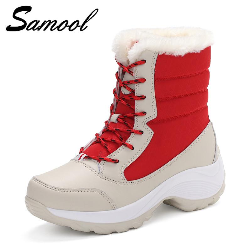 Big Size Winter Women Snow Boots Winter Women Keep warm Shoes Autumn Female Mid-Calf Platform Boots calzado mujer Shoes Sex3