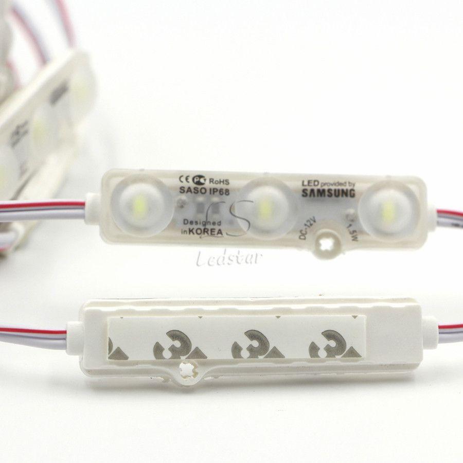 IP68 حقن led وحدة 5630 1.5W 3LEDs علامة الخلفية للماء الأحمر الأبيض أزرق 12V 60LM كل ضوء الإعلان
