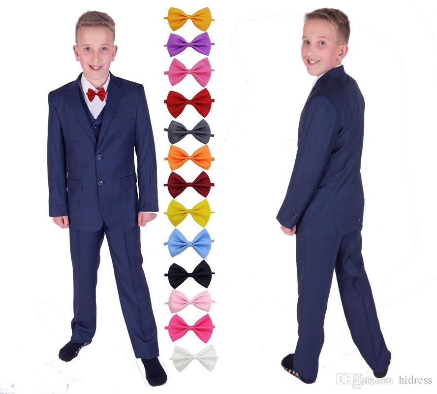 997eb6badf16c Royal Blue Suits Kid's Formal Wedding Groom Tuxedos Boys Wedding Suit  Flower Boys Children Party Suits (Jacket + Pants + Vest + Bowtie)