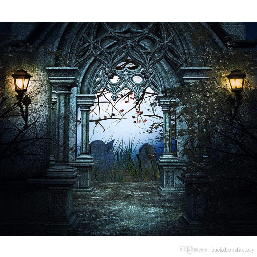 2019 Old Castle Arch Door Photography Backdrop Printed