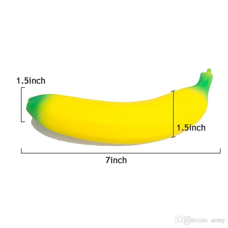 2018 Jumbo Squishy Toys Banana Slow Rising Cellphone Charms Pendant Kawaii Cute Stress Relieve Squeeze Bread Kids Toys Gift
