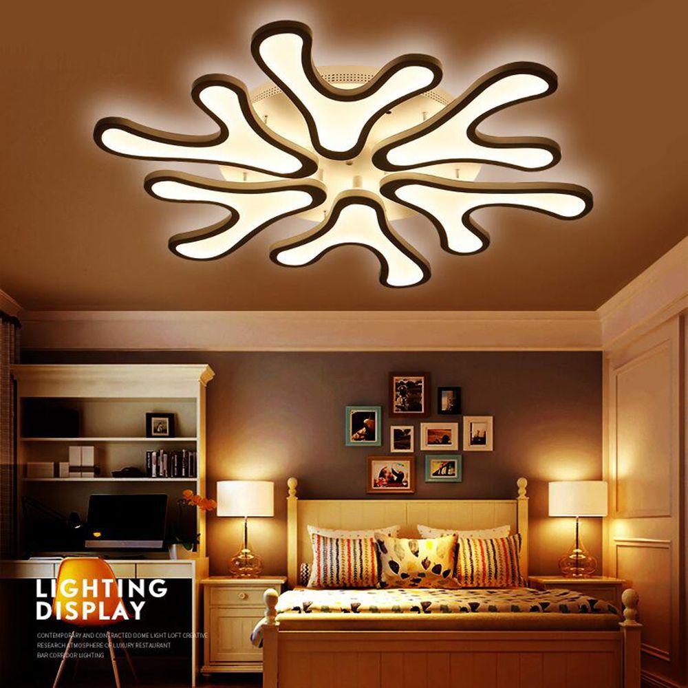 Fuloc acrylic modern led ceiling lights for living room bedroom light fixtures modern ceiling lighting hanging lamp shade from honpus 213 57 dhgate com