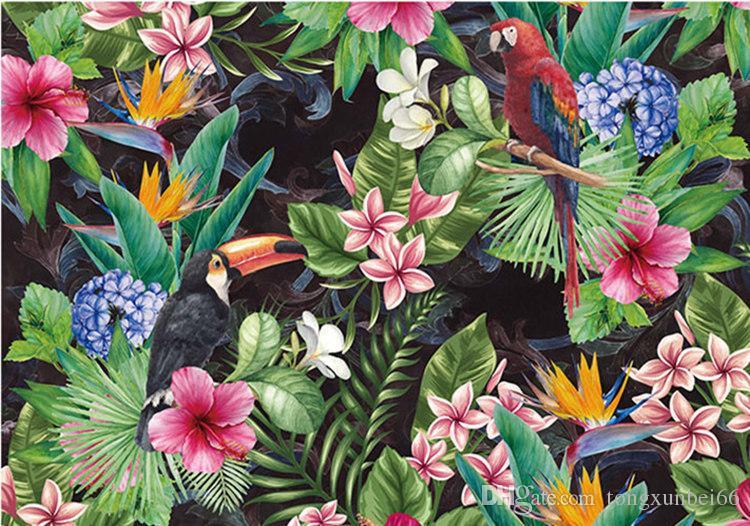 Southeast Asia flower Bird Wallpaper Murals for Walls Bedroom Photo Print Wallpapers 3 d Wall Paper Papier Modern Wall Coverings
